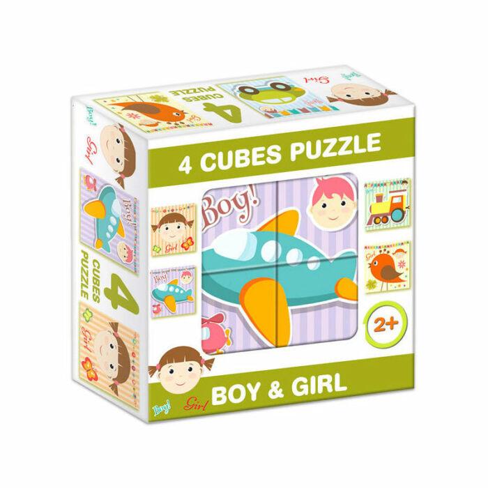 """D-Toys Tanuló játék Mesekocka """"fiús-lányos"""""""
