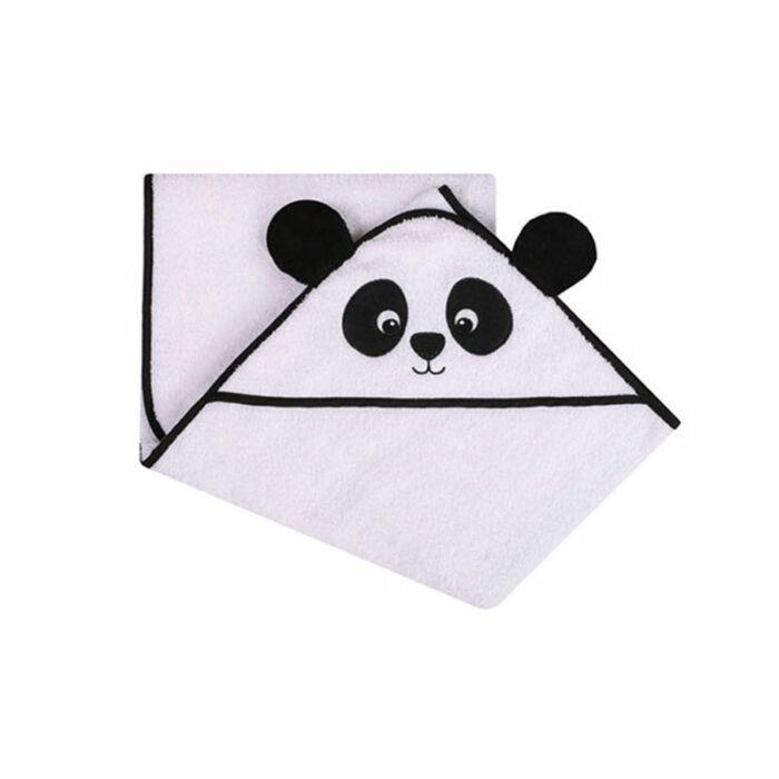 DuetBaby Fürdőlepedő Kapucnis, panda 100 * 100 cm