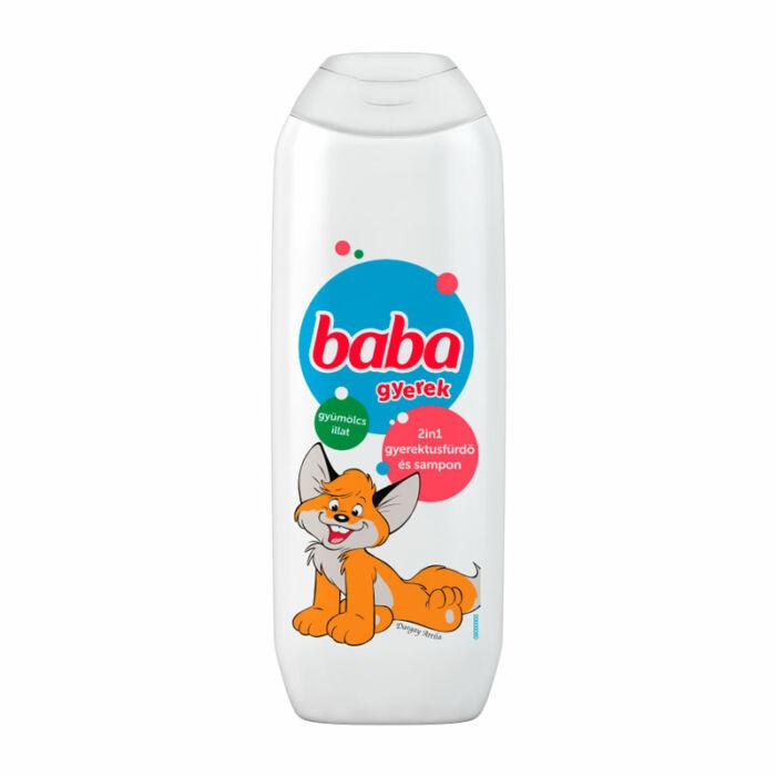 Baba Babafürdető 2az1-ben tusfürdő és sampon, gyümölcs illat