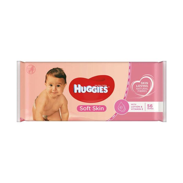 Huggies Soft Skin Popsitörlő
