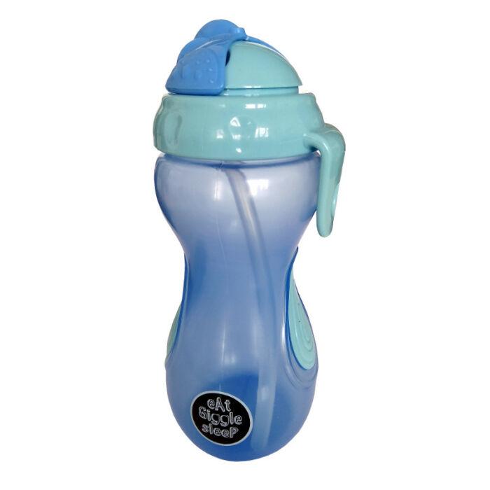 Eat Giggle Sleep Tanulópohár Szívószállal, kék