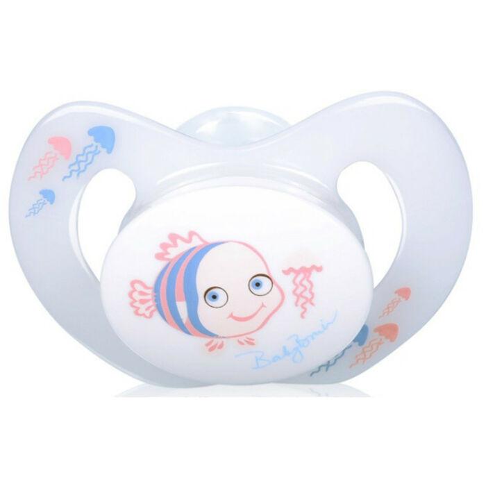 BabyBruin Játszócumi Bohóchal szilikon fogszabályzós (méret: 1) 0 - 6 hó