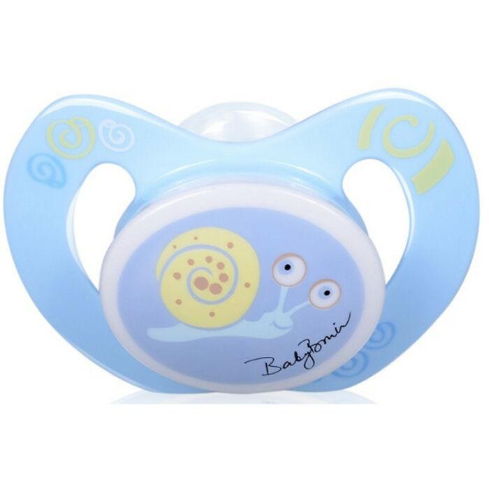 BabyBruin Játszócumi Csiga szilikon fogszabályzós (méret: 3) 16 - 32 hó