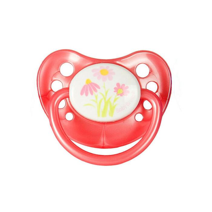 BabyBruin Játszócumi Rózsaszín, margaréta szilikon cseresznye (méret: 1) 0 - 12 hó