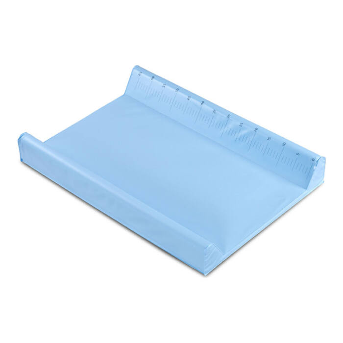 Sensillo Pelenkázó lap Puha, ékes, kék, magasságmérővel 50 * 70 cm