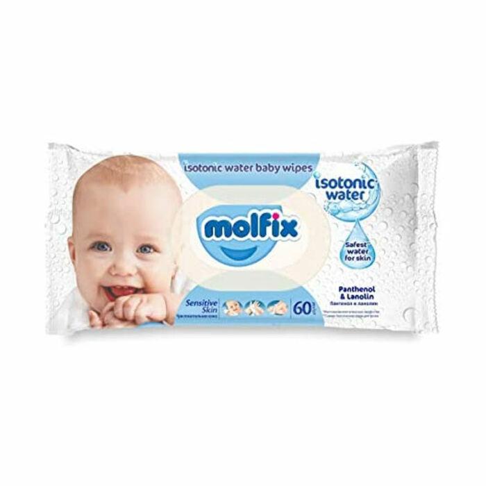 Molfix Popsitörlő Izotóniás kupakos illatmentes sensitive