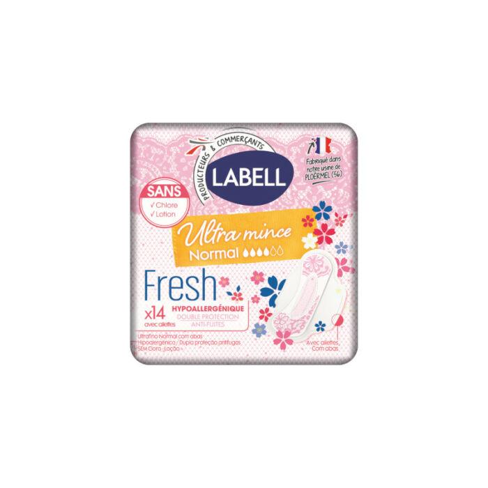 Labell Egészségügyi betét Ultra Mince, Deo fresh szárnyas (méret: normál)