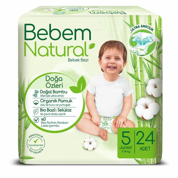 Bebem Natural pelenka (5-ös) 11 - 18 kg