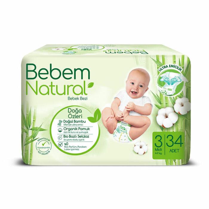 Bebem Natural pelenka (3-as) 4 - 9 kg