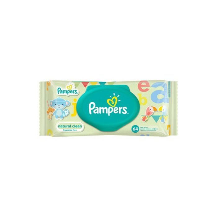 Pampers Natural clean Popsitörlő kupakos