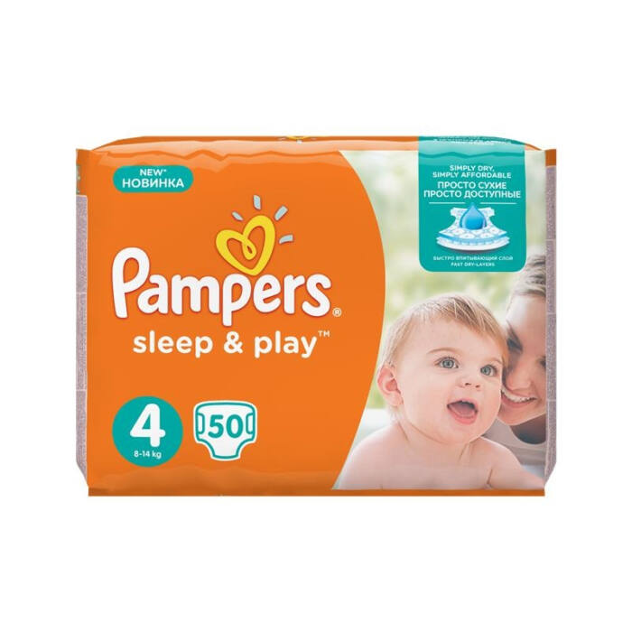 Pampers Sleep&Play pelenka (4-es) 8 - 14 kg
