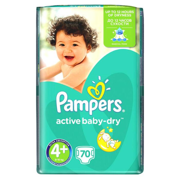 Pampers Active Baby pelenka GiantPack (4+-os) 9 - 16 kg
