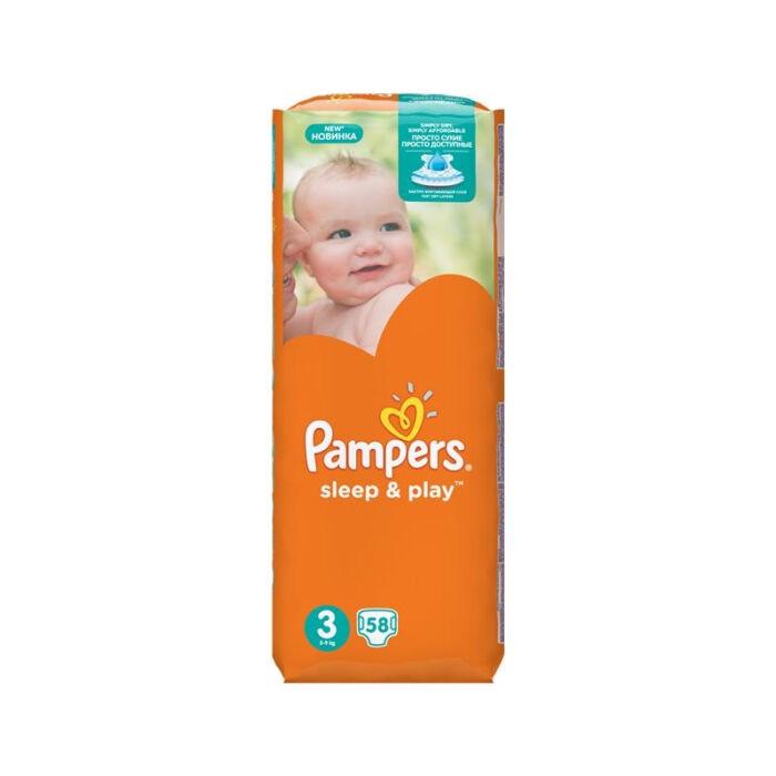 Pampers Sleep&Play pelenka Csomagolás sérült! (3-as) 4 - 9 kg