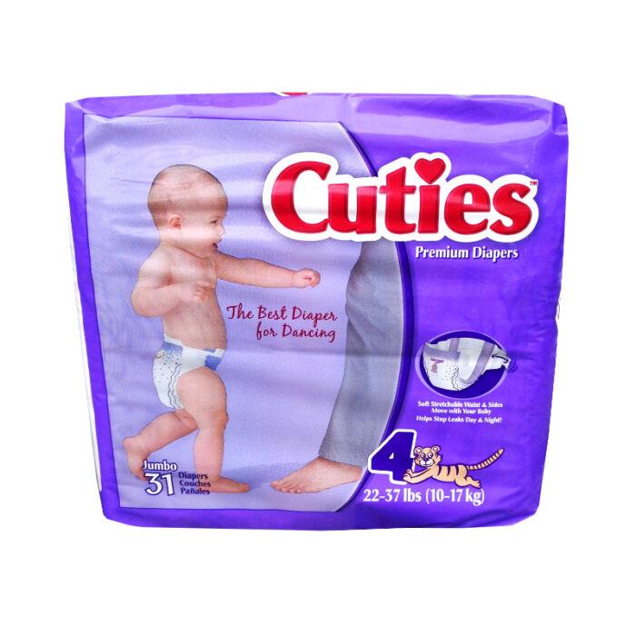 USA prémium pelenka Cuties (4-es) 10 - 17 kg