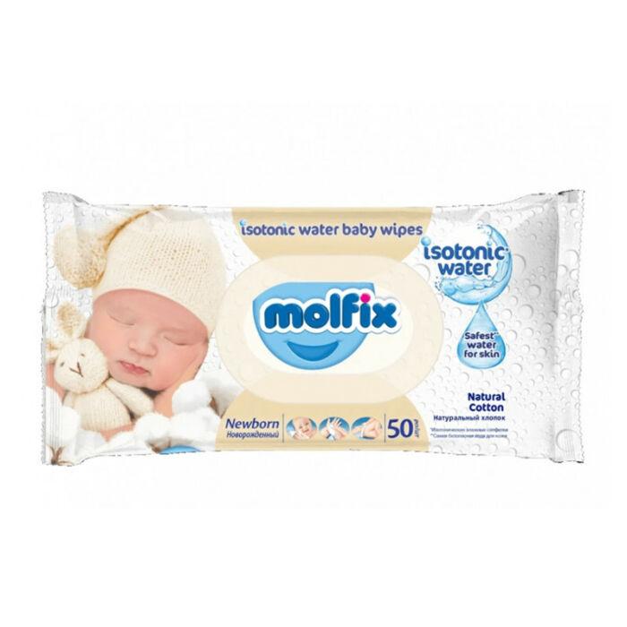 Molfix Popsitörlő Izotóniás, Newborn kupakos illatmentes sensitive
