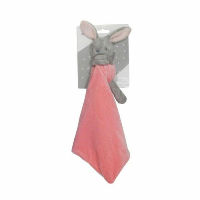 Tulilo Szundikendő nyuszi, plüss, rózsaszín 25 * 25 cm