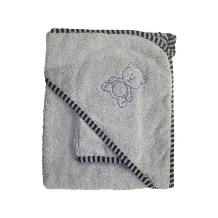 Stella Fürdőlepedő vastag, kék, mosdókesztyűvel 110 * 110 cm